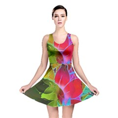 Floral Abstract 1 Reversible Skater Dresses