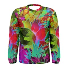 Floral Abstract 1 Men s Long Sleeve T Shirts