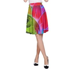 Floral Abstract 1 A-Line Skirts