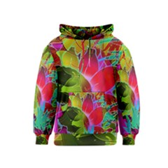 Floral Abstract 1 Kid s Pullover Hoodies