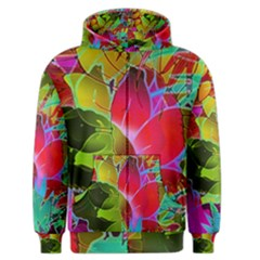 Floral Abstract 1 Men s Zipper Hoodies