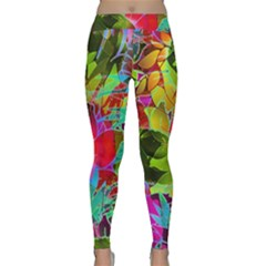 Floral Abstract 1 Yoga Leggings