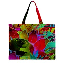 Floral Abstract 1 Zipper Tiny Tote Bags