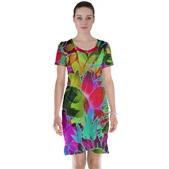 Floral Abstract 1 Short Sleeve Nightdresses