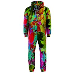 Floral Abstract 1 Hooded Jumpsuit (men)