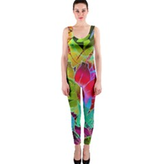 Floral Abstract 1 Onepiece Catsuits
