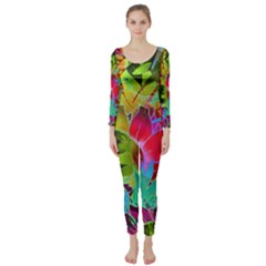 Floral Abstract 1 Long Sleeve Catsuit