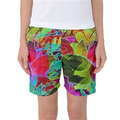 Floral Abstract 1 Women s Basketball Shorts