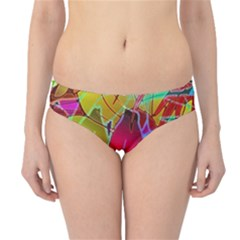 Floral Abstract 1 Hipster Bikini Bottoms