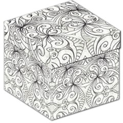 Drawing Floral Doodle 1 Storage Stool 12
