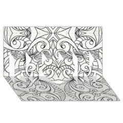 Drawing Floral Doodle 1 MOM 3D Greeting Card (8x4)