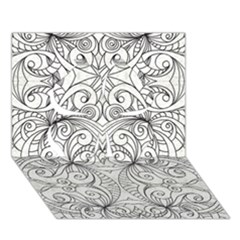 Drawing Floral Doodle 1 Clover 3d Greeting Card (7x5)