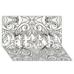 Drawing Floral Doodle 1 #1 Mom 3d Greeting Cards (8x4)