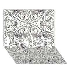 Drawing Floral Doodle 1 HOPE 3D Greeting Card (7x5)