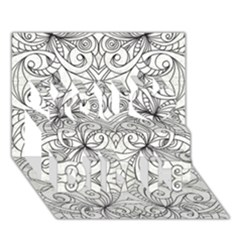 Drawing Floral Doodle 1 You Did It 3D Greeting Card (7x5)