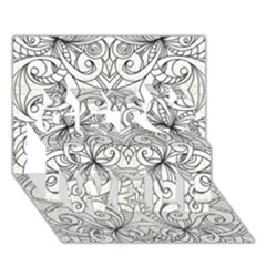 Drawing Floral Doodle 1 Get Well 3D Greeting Card (7x5)