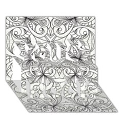 Drawing Floral Doodle 1 You Rock 3D Greeting Card (7x5)