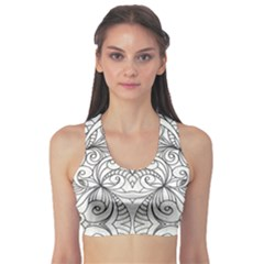 Drawing Floral Doodle 1 Sports Bra