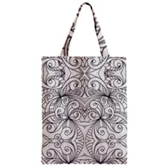 Drawing Floral Doodle 1 Classic Tote Bags