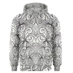 Drawing Floral Doodle 1 Men s Pullover Hoodies