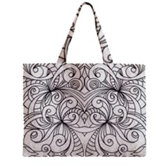 Drawing Floral Doodle 1 Zipper Tiny Tote Bags