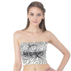 Drawing Floral Doodle 1 Women s Tube Tops