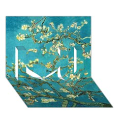 Blossoming Almond Tree I Love You 3d Greeting Card (7x5)