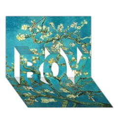 Blossoming Almond Tree BOY 3D Greeting Card (7x5)