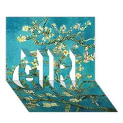Blossoming Almond Tree Girl 3d Greeting Card (7x5)