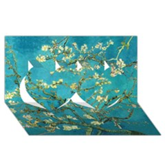 Blossoming Almond Tree Twin Hearts 3D Greeting Card (8x4)