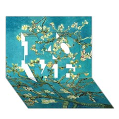 Blossoming Almond Tree LOVE 3D Greeting Card (7x5)