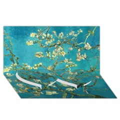 Blossoming Almond Tree Twin Heart Bottom 3D Greeting Card (8x4)