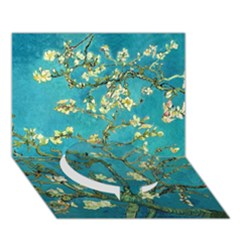 Blossoming Almond Tree Circle Bottom 3d Greeting Card (7x5)