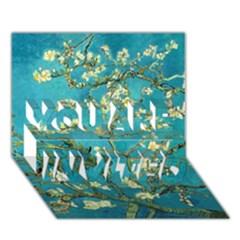 Blossoming Almond Tree YOU ARE INVITED 3D Greeting Card (7x5)