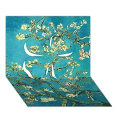 Blossoming Almond Tree Clover 3d Greeting Card (7x5)