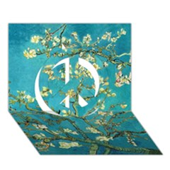 Blossoming Almond Tree Peace Sign 3d Greeting Card (7x5)
