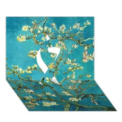Blossoming Almond Tree Ribbon 3D Greeting Card (7x5)