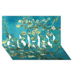 Blossoming Almond Tree SORRY 3D Greeting Card (8x4)