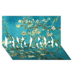 Blossoming Almond Tree Engaged 3d Greeting Card (8x4)