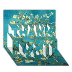 Blossoming Almond Tree THANK YOU 3D Greeting Card (7x5)