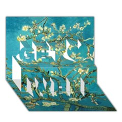 Blossoming Almond Tree Get Well 3D Greeting Card (7x5)