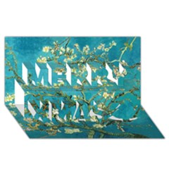 Blossoming Almond Tree Merry Xmas 3d Greeting Card (8x4)