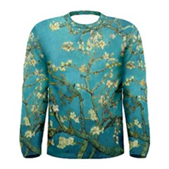 Blossoming Almond Tree Men s Long Sleeve T Shirts