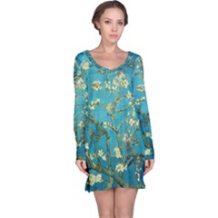 Blossoming Almond Tree Long Sleeve Nightdresses