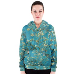 Blossoming Almond Tree Women s Zipper Hoodies