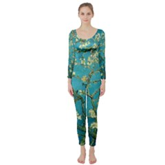 Blossoming Almond Tree Long Sleeve Catsuit