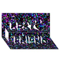 Glitter 1 Best Friends 3d Greeting Card (8x4)