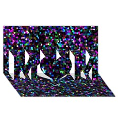 Glitter 1 MOM 3D Greeting Card (8x4)