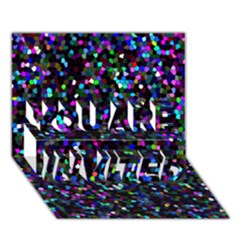 Glitter 1 YOU ARE INVITED 3D Greeting Card (7x5)