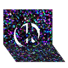 Glitter 1 Peace Sign 3D Greeting Card (7x5)